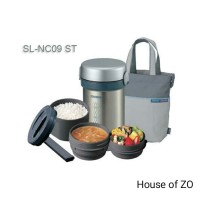 Bergaransi - Lunch Jar Zojirushi SL-NC09 warna Stainless