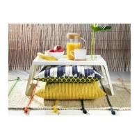 IKEA KLIPSK Baki / meja lipat untuk tempat tidur, putih