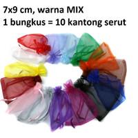 Kantong Serut Dompet Pouch Bungkus Souvenir Packing (Warna RANDOM)