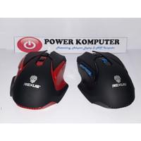 Rexus S5 Aviator Mouse Gaming Wireless - RXM-S5 - Merah Hitam