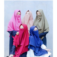 CADAR TALI / Niqab / Cadar Niqab / Cadar Wolfis Premium / Cadar Murah