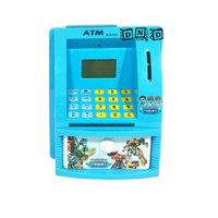 Mainan Edukasi Anak - Celengan ATM Mini Happy Bank Tobot Biru Bahasa