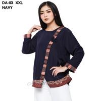 Monellina Fashion Baju Blouse XXL Jumbo Murah Wanita Kekinian DA-113