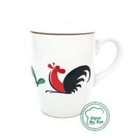 Cangkir + Tutup Seri 10 Ayam Jago Seri 2 / Mug Teh / Cangkir Kopi