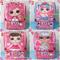 Tas Sekolah Anak Ransel Backpack TK Jepang Full Print LOL SURPRISE