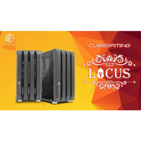 CASING PC CUBE GAMING LOCUS mATX - LEFT SIDE TEMPERED GLASS