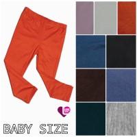 Celana Legging Polos Anak bayi balita Tosca Hitam Navy Abu Size XS S M