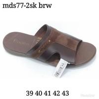 Sandal Fladeo Pria 39 40 41 43 Brown