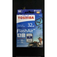 TOSHIBA FLASH AIR WIRELESS SD 32GB W-04 GARANSI RESMI support 4K
