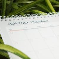 Line Memopad Spiral Monthly Planner A4 Buku Agenda Perencanaan Bulanan