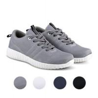 Dream Sepatu Kets Sneakers Kasual Pria Kanvas - Abu Abu
