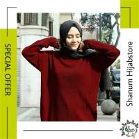 Premium Boxy Jumbo Loose Sweater | Baju Atasan Perempuan Kekinian