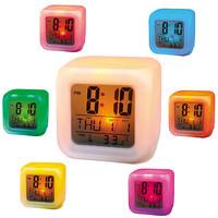 Jam Weker LED Moody Alarm Jam Beker Mini Kotak Lampu Led Digital Moody
