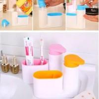 Sink Tidy Set Dispenser Sabun/Tempat sikat gigi dan Odol
