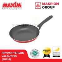 Wajan / Penggorengan (Fry Pan) Teflon 18 cm Maxim Valentino