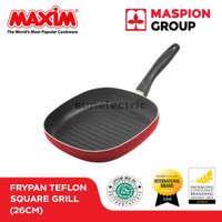 Wajan / Alat Panggangan / Pemanggang Teflon 26 cm Square Grill Maxim