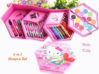 Jual Kotak Susun 4 In 1 Set Tempat 46 Crayon Warna Hello Kitty