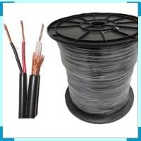 Kabel Coaxial CCTV RG59 + Power panjang 50 Meter ( Warna Hitam )
