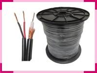 Kabel Coaxial CCTV RG59 + Power panjang 20 Meter ( Warna Hitam )