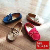 Sepatu Walker Flat Import Anti Slip On untuk Anak Perempuan / Laki