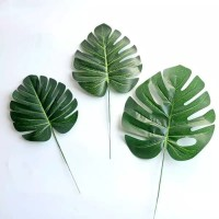 daun monstera deliciosa - daun sintetis - daun artificial pelastik