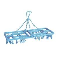 square hanger lionstar jemuran jepit kotak baju bayi 24 klip plastik