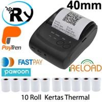 Limited Paket Zjiang Mini Bluetooth Printer ZJ-5802 Kertas Thermal 10