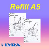Refill / isi ulang Lyra Sketchbook A5