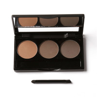 FOCALLURE Eyebrow Powder Palette with Brush Mirror FA04 - 3 Colours