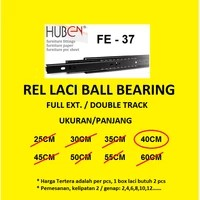 Rel Laci HUBEN 40 cm Double Track / Full Extension / Ball Bearing FE37