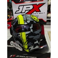 Helm JPX Bot X 730 Iron Man Army Yellow Fluo Original
