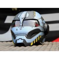 Helm JPX Bot X 730 Iron Man Black Grey Doff Original
