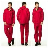Mantel Jas Hujan Acold Size M Original Bahan Taslan Seperti Daun Talas