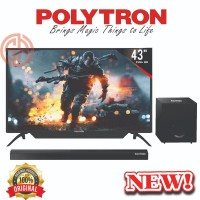 LED TV Polytron 43 Inch PLD43B150 / 43B150 SOUND BAR RESMI