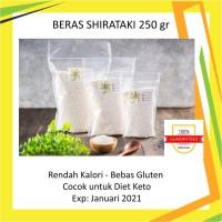 Shirataki Konnyaku Dry Rice | Beras Konyaku Shirataki | Repack 250gr