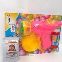 Bubble Gun 5 mata/pistol gelembung + bonus 1 refill bubble gun