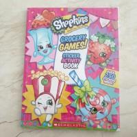 SHOPKINS GROCERY GAMES STICKER ACTIVITY BOOK Buku Edukasi Anak murah