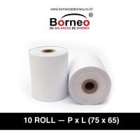 10 ROLL - Paper Roll / Kertas Struk / Kertas Printer - 1 Ply (75 x 65)
