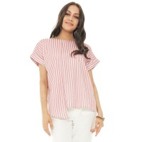 Gretel Blouse Stripe Red - Beatrice Clothing