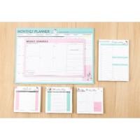 GROSIR Checklist, Time Schedule, Weekly Planner, Monthly Planner Flowe