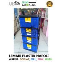 Lemari Plastik Napolly 4 Susun Terbaru Gojek Grab Murah Pakaian STB400