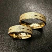 cincin kawin nikah tunangan pasangan perak emas palladium