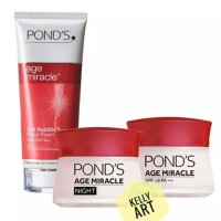 FREE POUCH PAKET PONDS AGE MIRACLE DAY/NIGHT 10 G/CLEANSER FOAM 100 Gr
