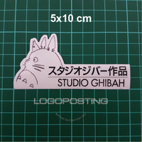 STUDIO GHIBAH - Sticker Logoposting Studio Ghibli Totoro