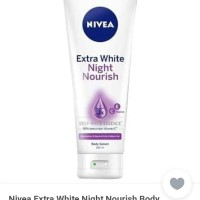 Nivea Extra White Night Nourishing Serum Hand Body Lotion 180ml
