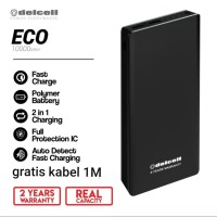 powerbank 100000 mah real Kapasitas delcell eco garansi resmi