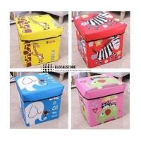 Storage Box ANIMAL Tempat Mainan Majalah Kursi Organizer Motif Animal
