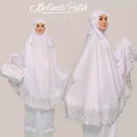 Mukena Putih Sutra Bordir Fashion Muslim Bali Elegan Dewasa Terbaru