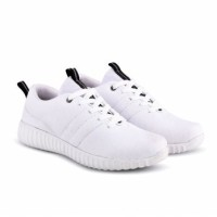 Dream Sepatu Kets Sneakers Kasual Pria Kanvas - White