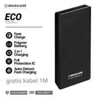 power bank dellcell eco 10000 mah fast charging slim garansi resmi
